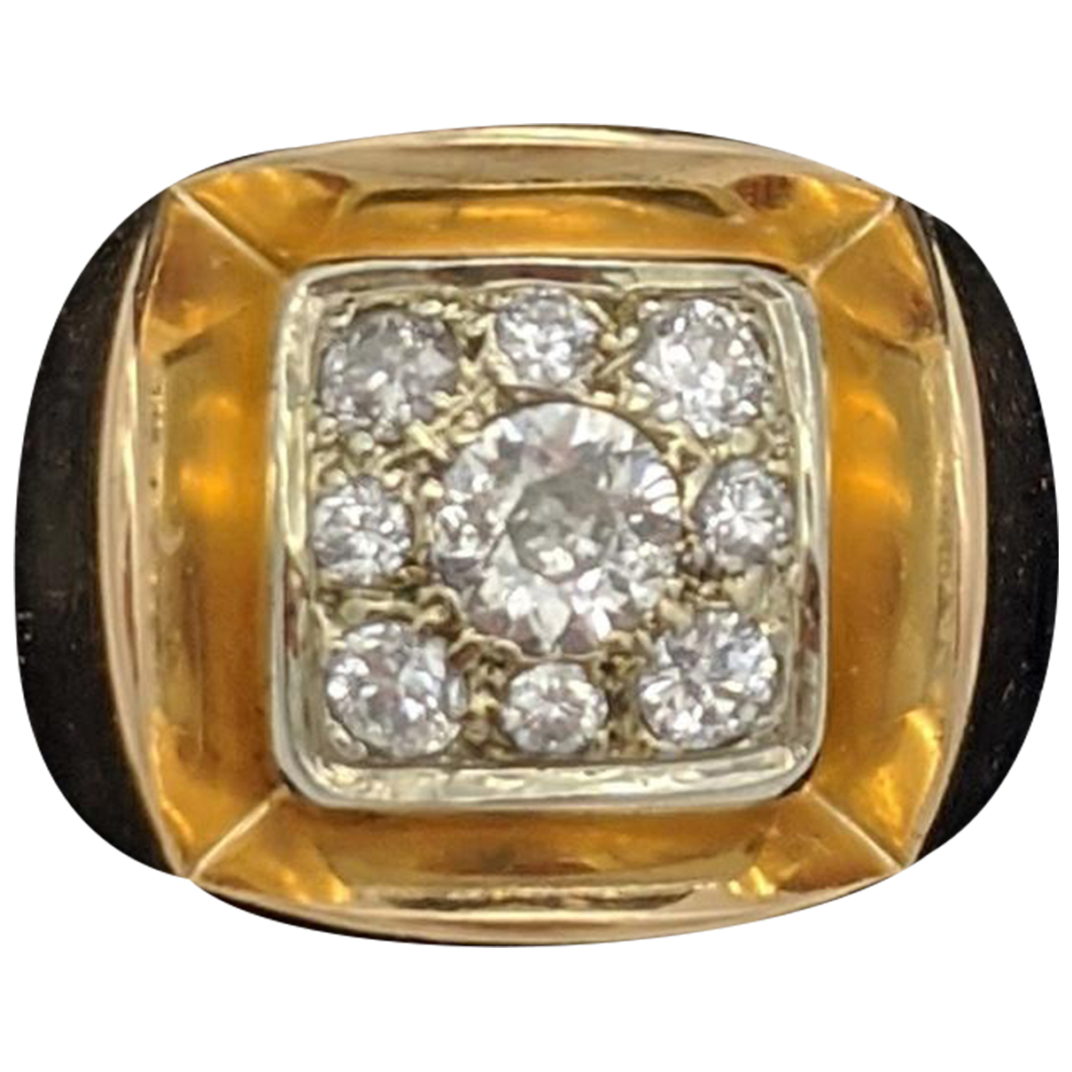 Non Signé / Unsigned Bagues Cocktails Gold Yellow gold ring for Women 54 EU