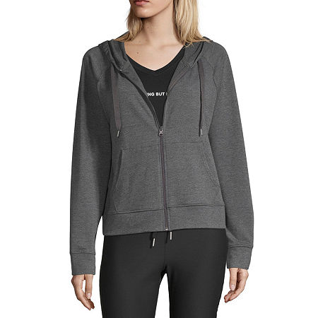 Xersion Womens Long Sleeve French Terry Hoodie - Tall, X-large Tall , Gray