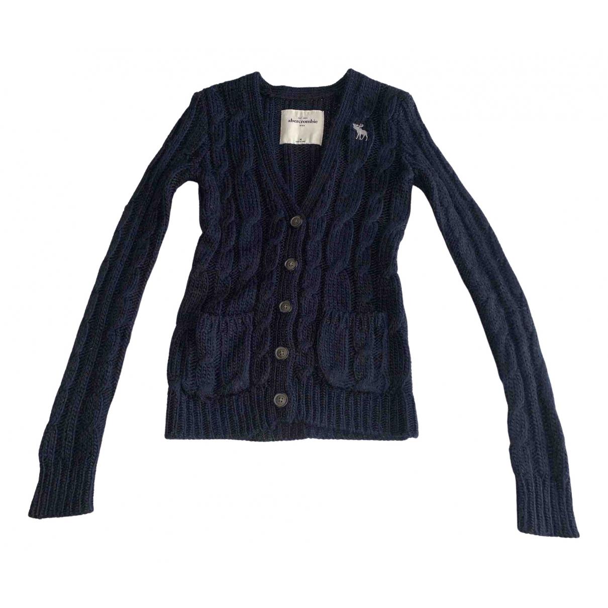 Abercrombie & Fitch - Pull   pour femme en laine - bleu