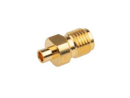 RS PRO Straight 50Ω Cable Mount Coaxial Connector, jack, Gold, Crimp Termination, RG405