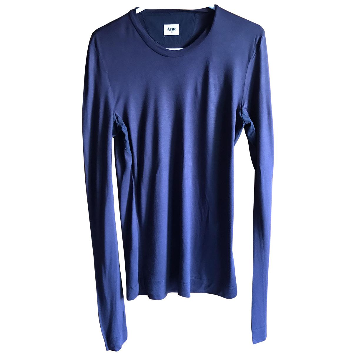 Acne Studios - Tee shirts   pour homme en coton - marine