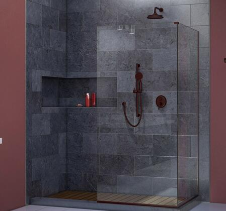 SHDR-3230343-06 Linea Two Adjacent Frameless Shower Screens 34 In. And 30 In. W X 72 In. H  Open Entry Design In Oil Rubbed