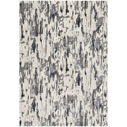 Lagom LGM-2302 810 x 123 Rectangle Modern Rug in Charcoal  Pale Blue  Navy  Medium Gray