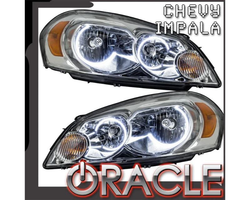 Oracle Lighting 8898-001 Non-Projector Pre-Assembled Headlights LED Halo Kit White Chevrolet Impala 2006-2013