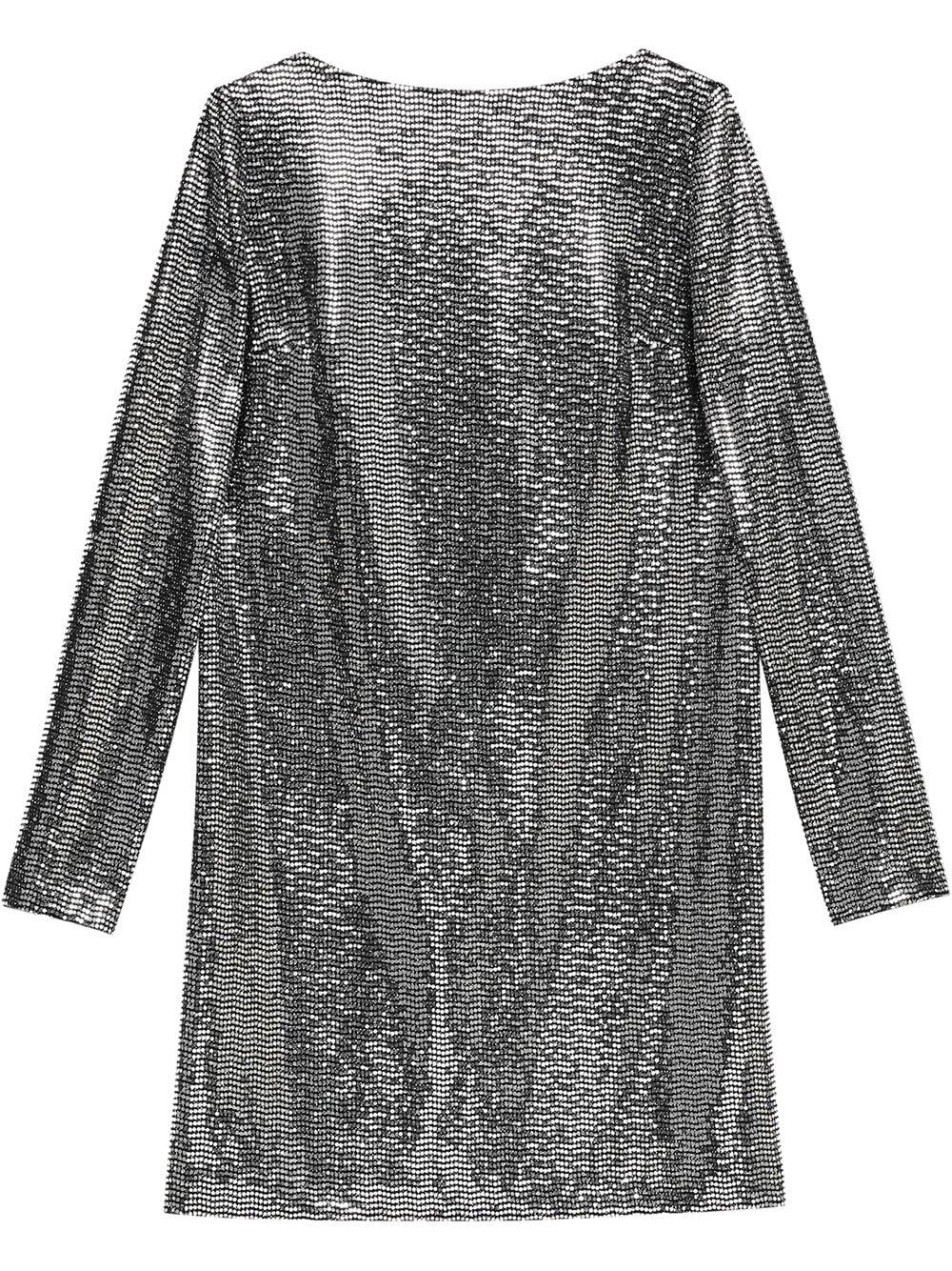 Metallic Dotted Jersey Dress