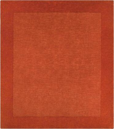 Mystique M-300 6' Square Modern Rug in Burnt