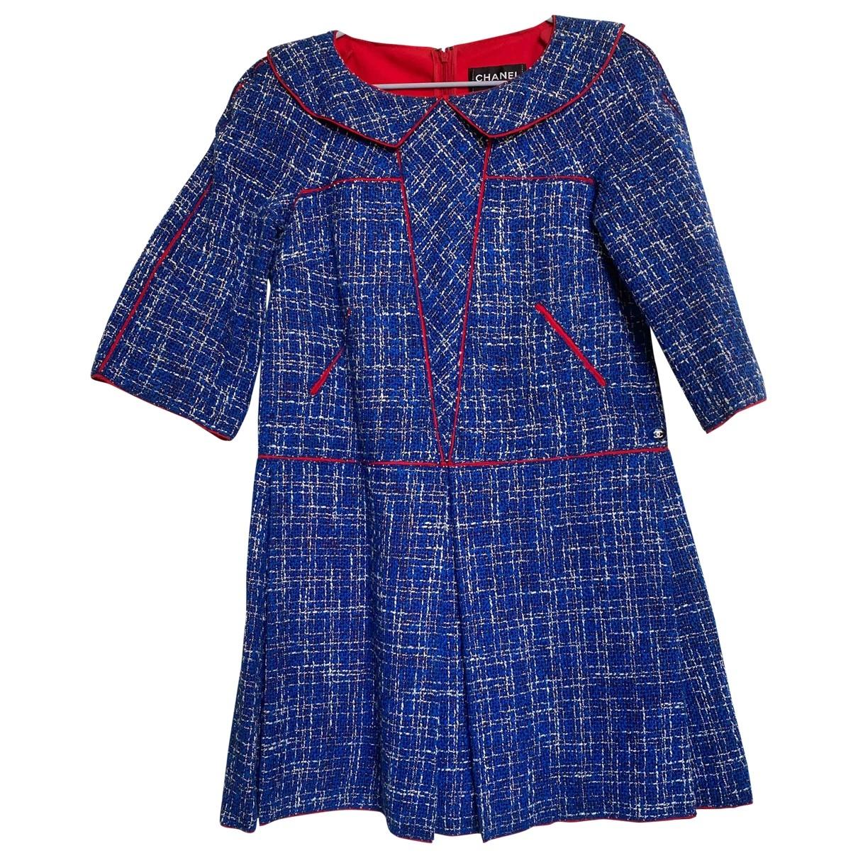 Chanel \N Kleid in  Blau Baumwolle