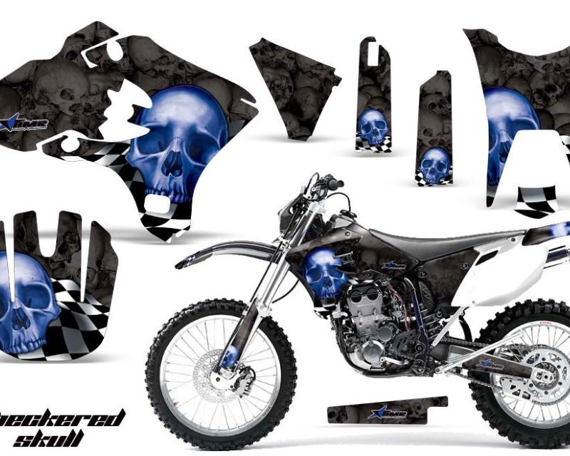 AMR Racing Dirt Bike Graphics Kit Decal Wrap For Yamaha WR250F WR450F 2003-2004áCHECKERED BLUE BLACK