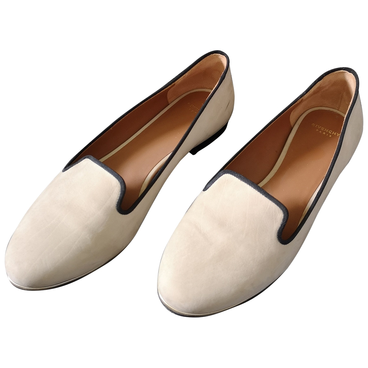 Givenchy \N Beige Leather Flats for Women 37 EU