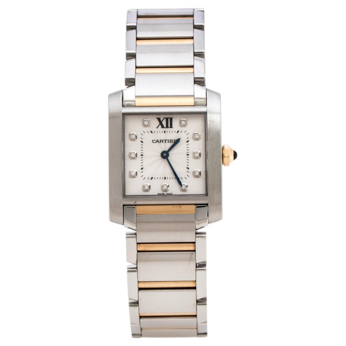 Cartier Tank Francaise Uhr in  Silber Gold und Stahl