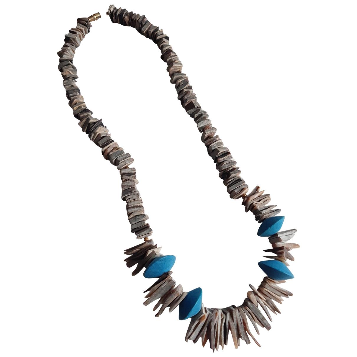 Collar Motifs Ethniques de Perlas Non Signe / Unsigned