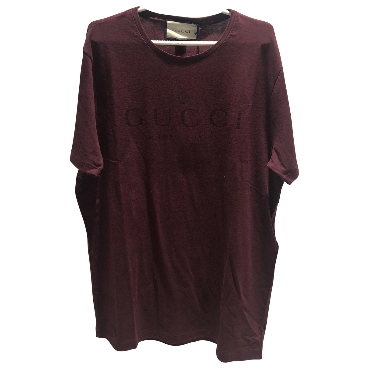 Gucci \N Red Cotton T-shirts for Men L International