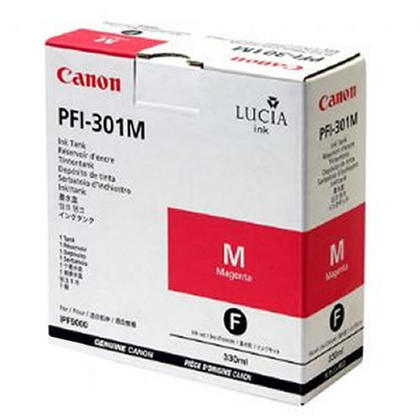 Canon PFI-301M 1488B001AA Original Pigment Magenta Ink Cartridge