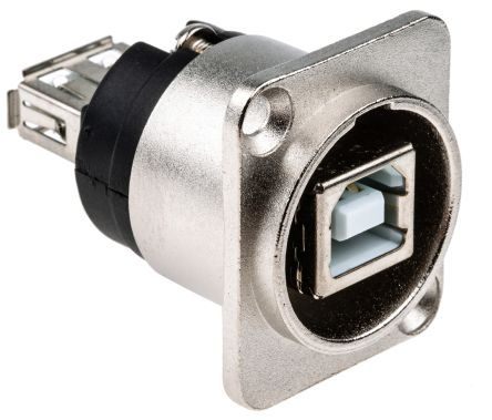 RS PRO USB Connector, Panel Mount, Socket 2.0 B to A, Straight- Single Port