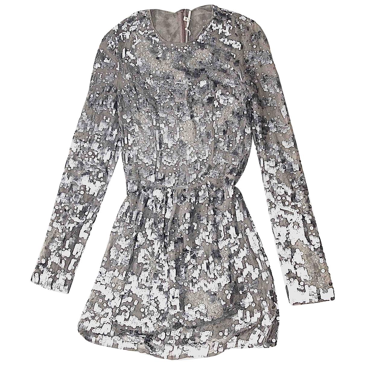 Amen Italy - Robe   pour femme en a paillettes - gris