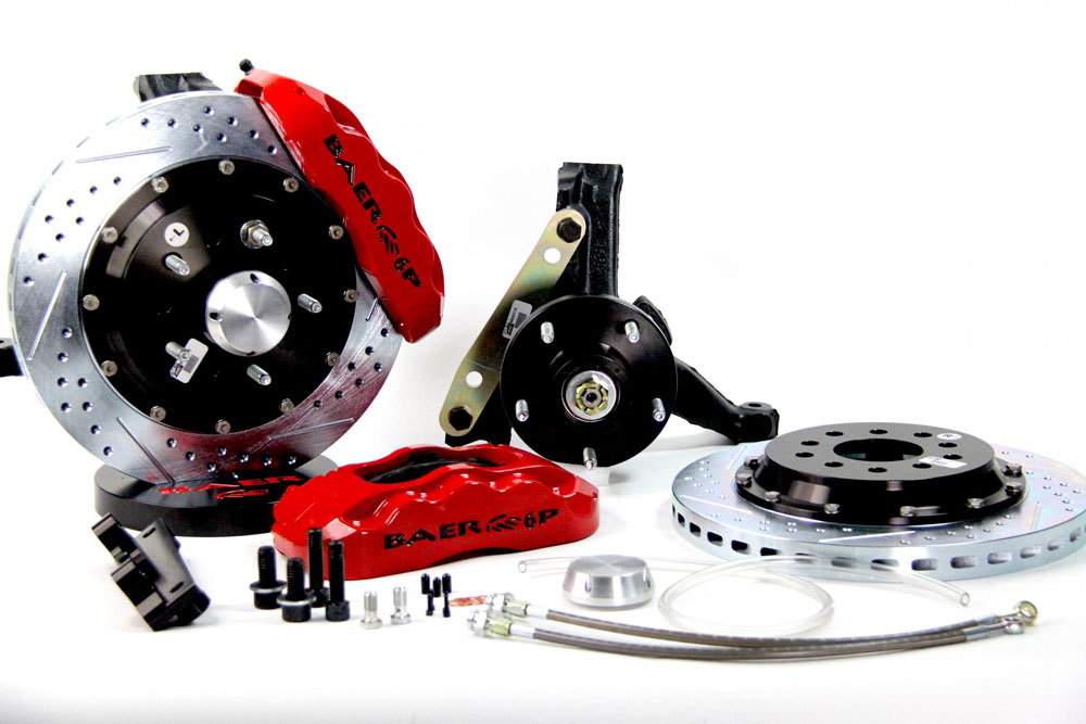 Baer Brakes Brake System 14 Inch Front Pro+ Red 78-87 GM G Body Modified Stock Spindles