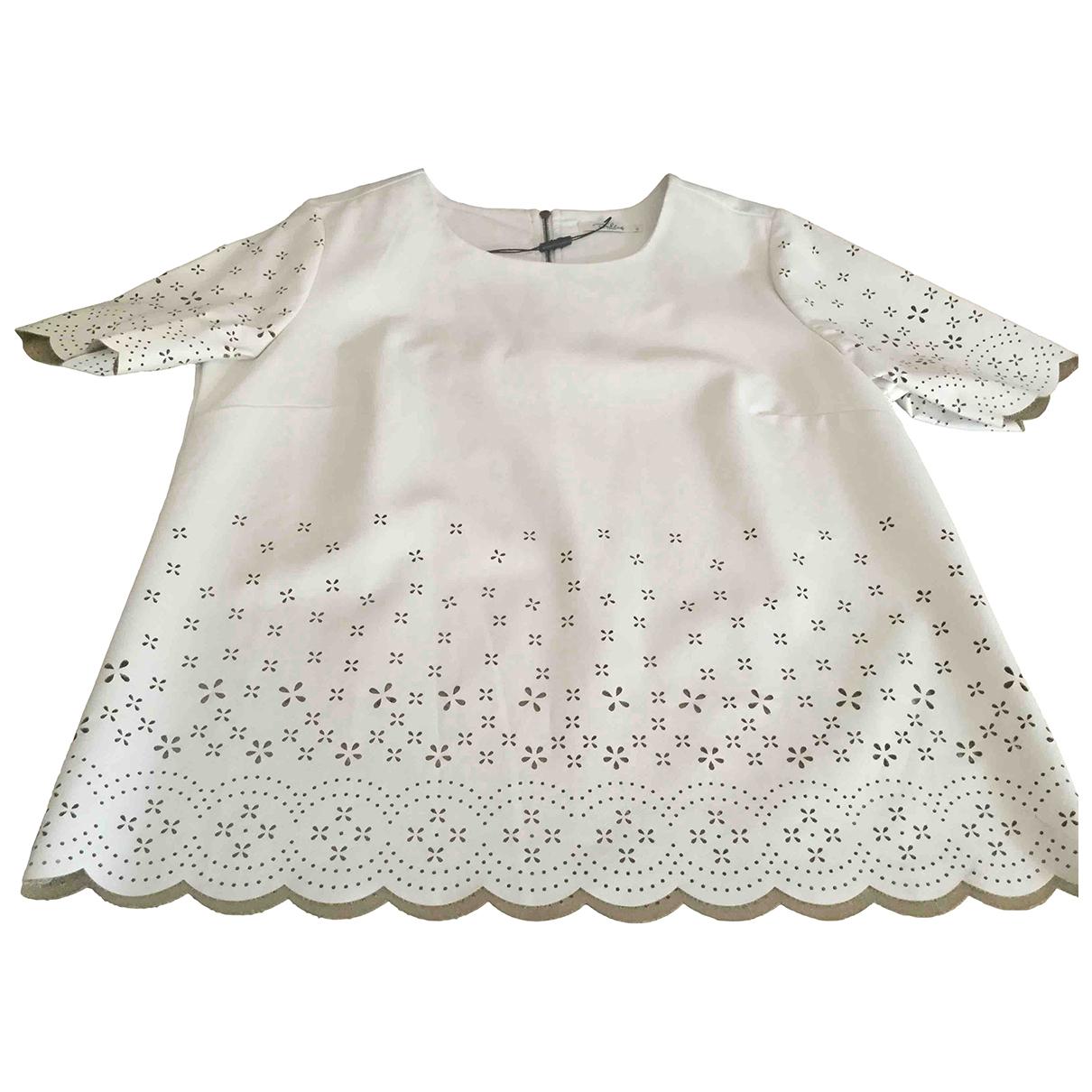 Darling - Top   pour femme en cuir - blanc