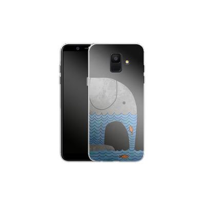 Samsung Galaxy A6 Silikon Handyhuelle - Thirsty Elephant von Terry Fan