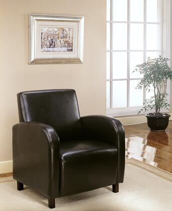 I 8050 Accent Chair - Dark Brown Leather-Look