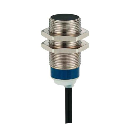 Telemecanique Sensors M18 x 1 Inductive Proximity Sensor - Barrel, PNP-NO Output, 5 mm Detection, IP68, IP69K, Cable