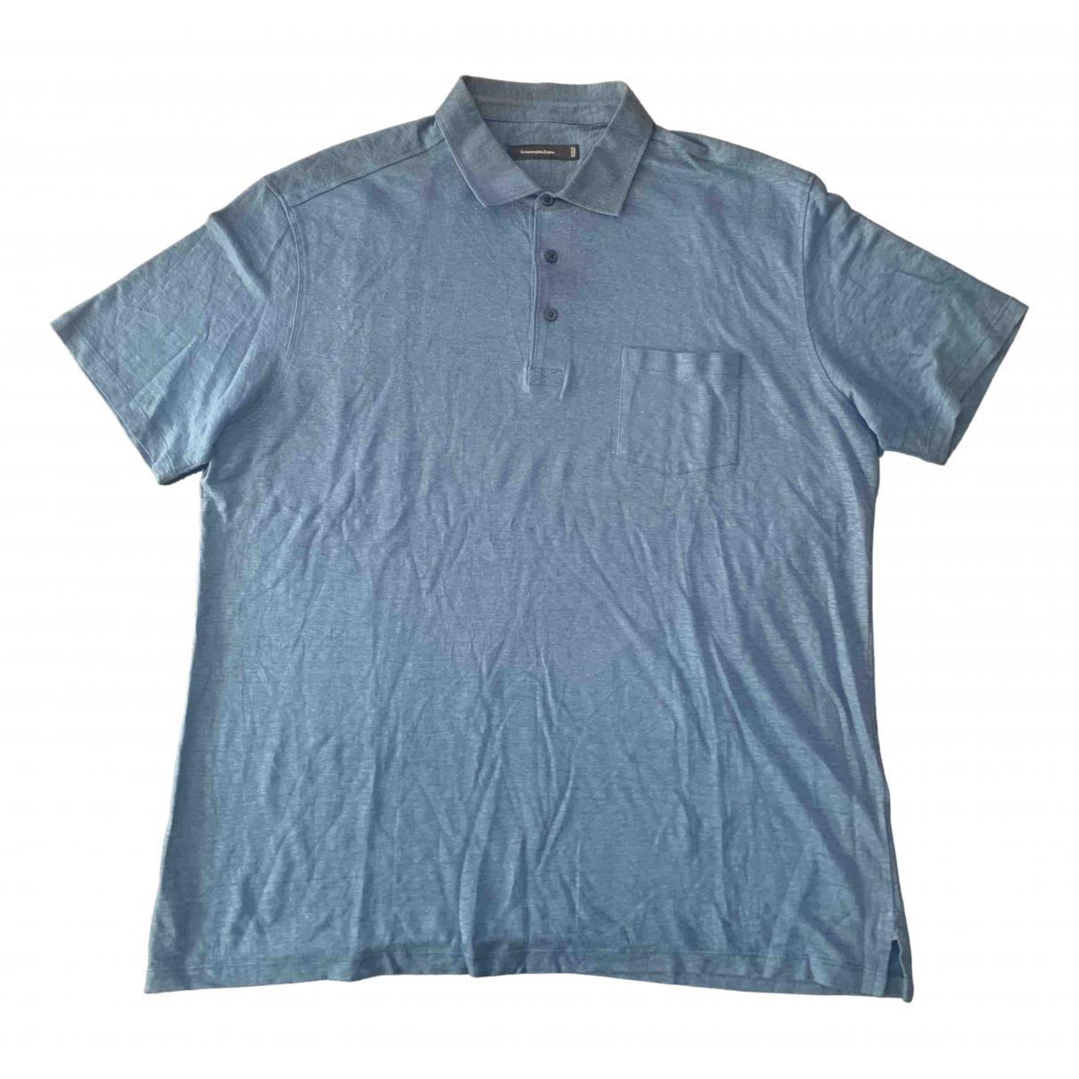 Ermenegildo Zegna \N Blue Linen Polo shirts for Men XXXL International