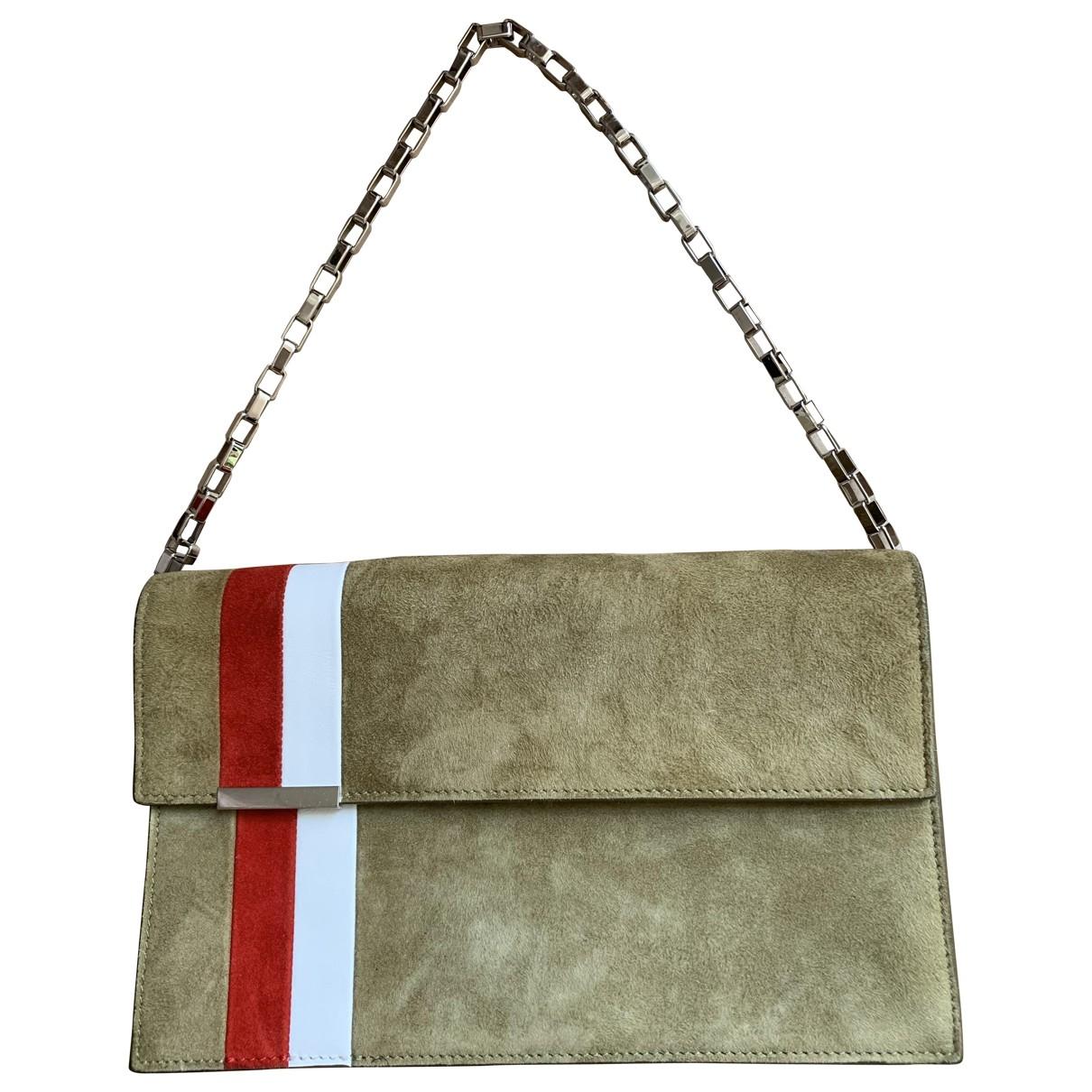 Tomasini \N Khaki Suede handbag for Women \N