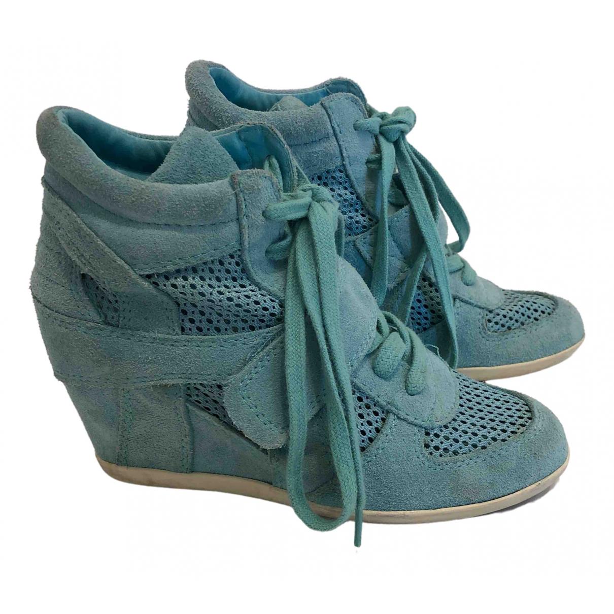 Ash - Baskets   pour femme en suede - turquoise