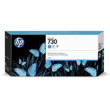 HP 730 P2V68A cartouche d'encre originale cyan haute capacité 300ml