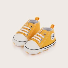Baby Boy Lace Up Front Canvas Shoes