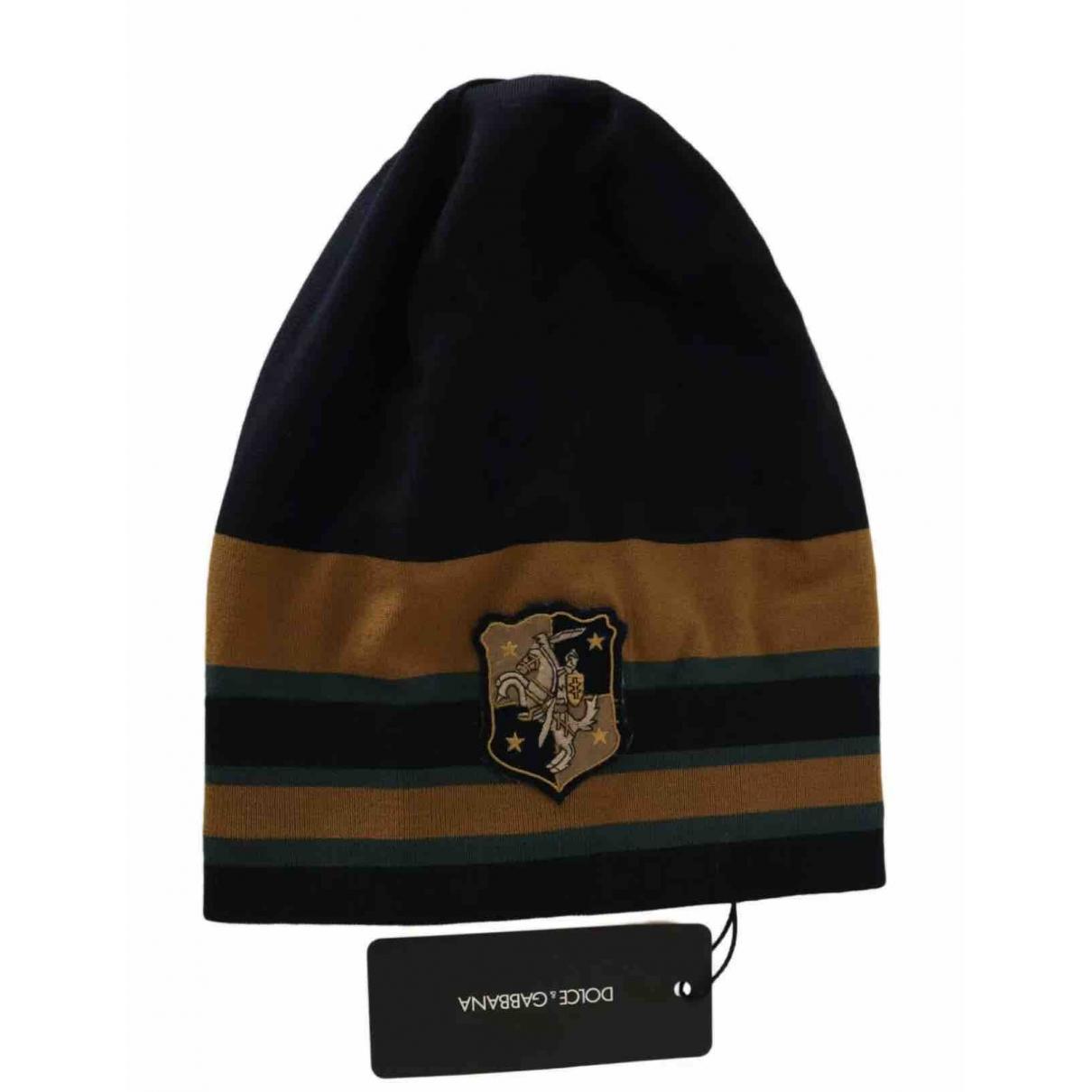 Dolce & Gabbana - Chapeau & Bonnets   pour homme en laine - vert