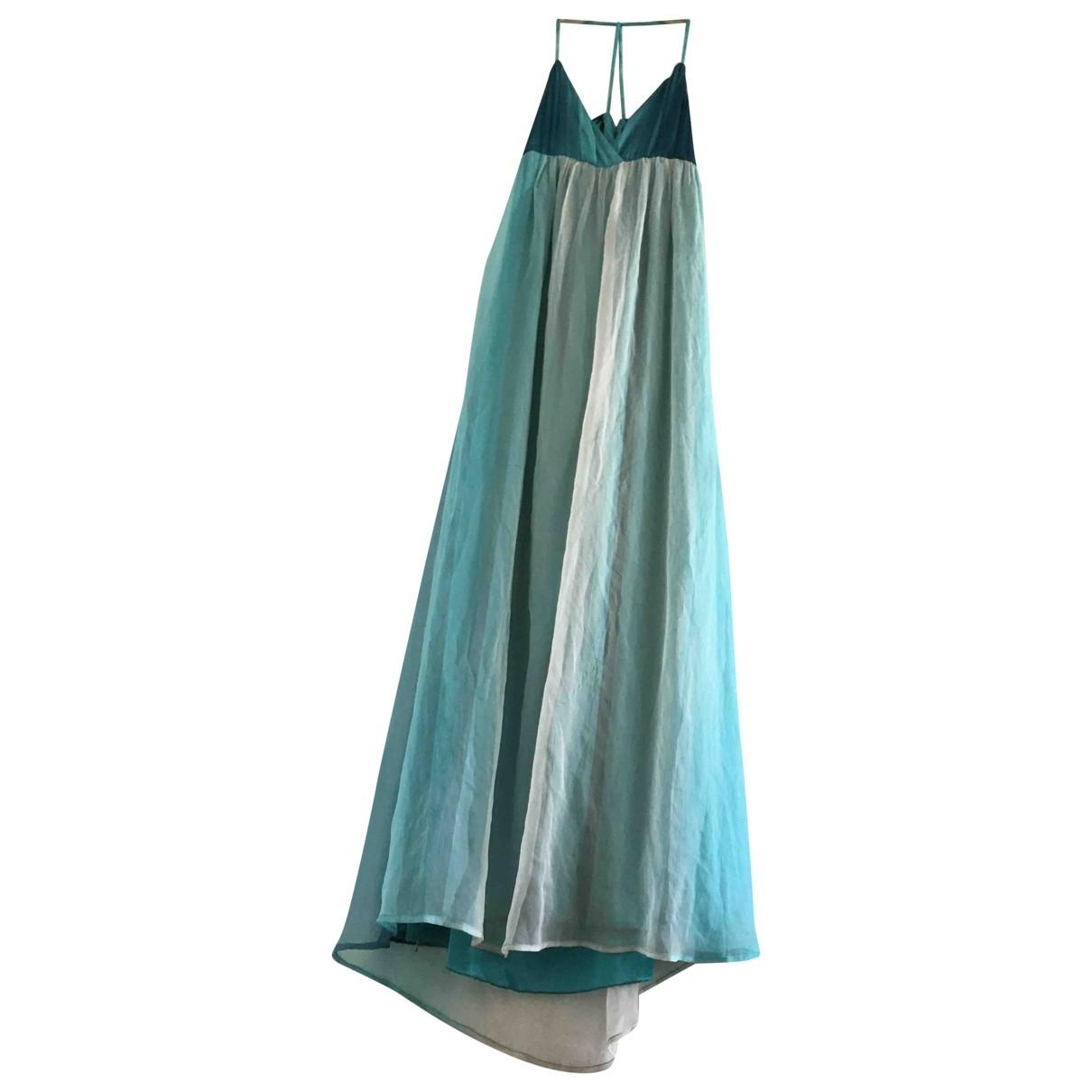 - Robe   pour femme en soie - bleu