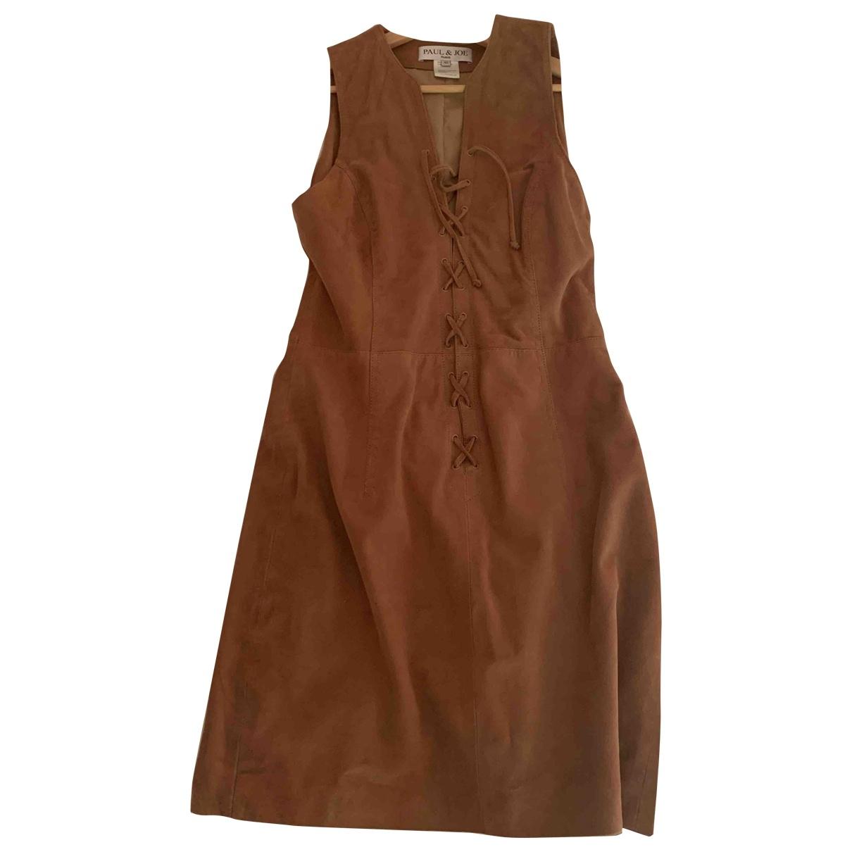 Paul & Joe \N Camel Suede dress for Women 42 FR