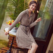 Strick Kleid mit Knopfen vorn ohne Guertel