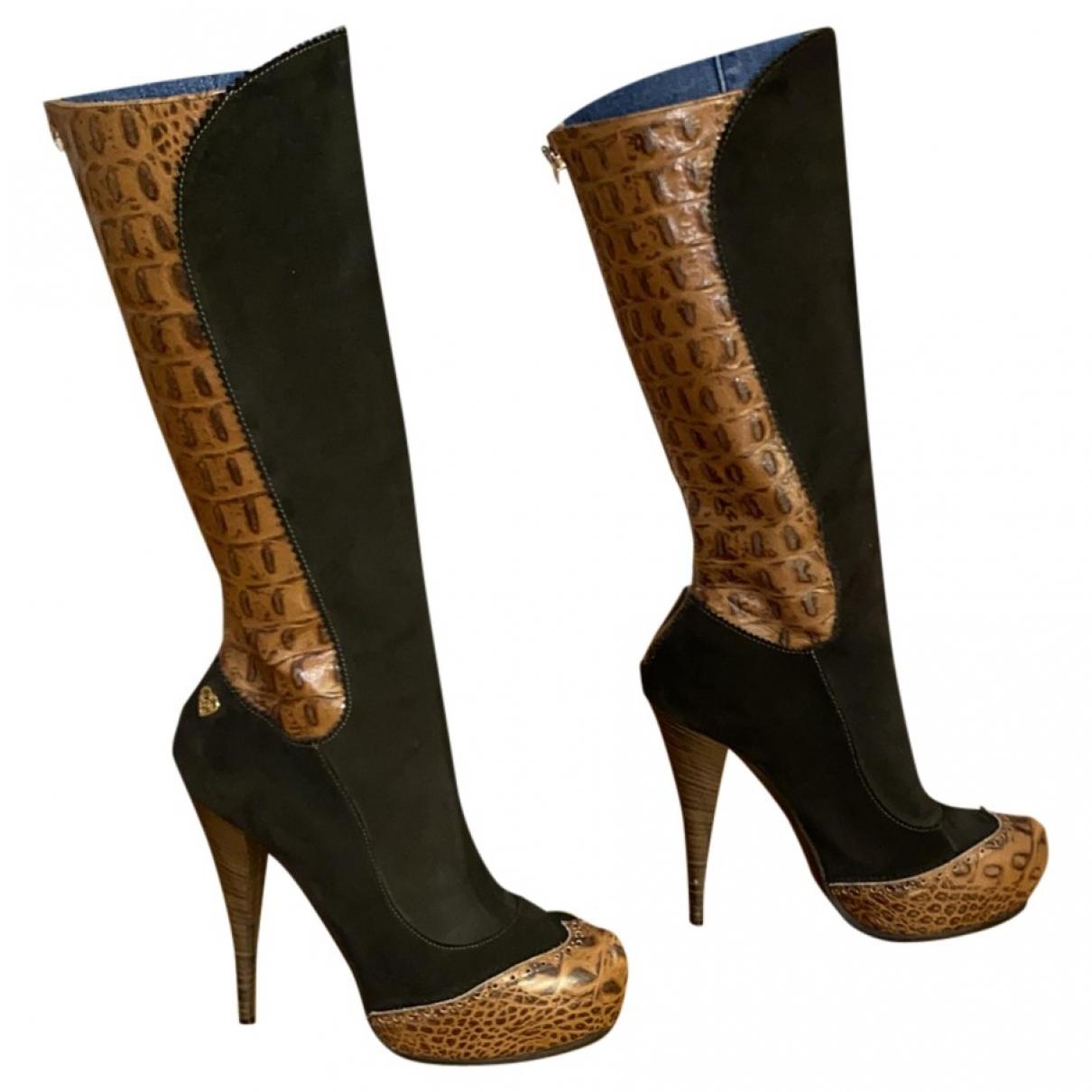 Just Cavalli \N Stiefel in  Gruen Leder