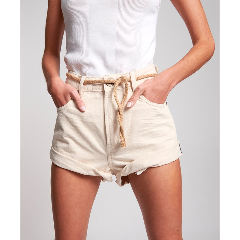 NASHVILLE CREAM BANDITS HIGH WAIST DENIM SHORT