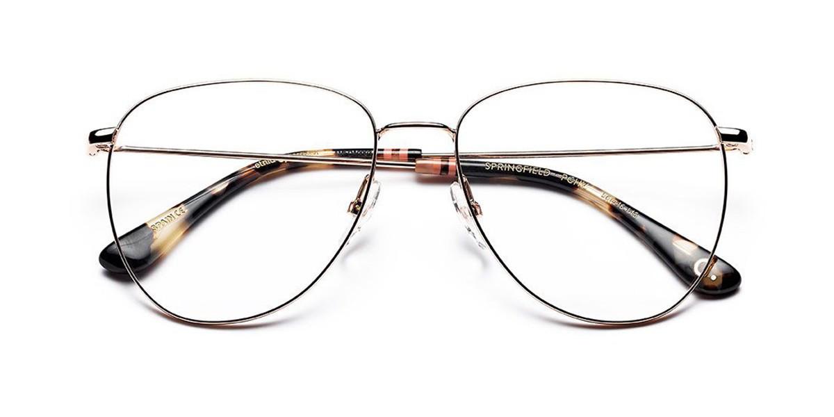 Etnia Barcelona Springfield PGHV Women's Glasses Gold Size 56 - Free Lenses - HSA/FSA Insurance - Blue Light Block Available