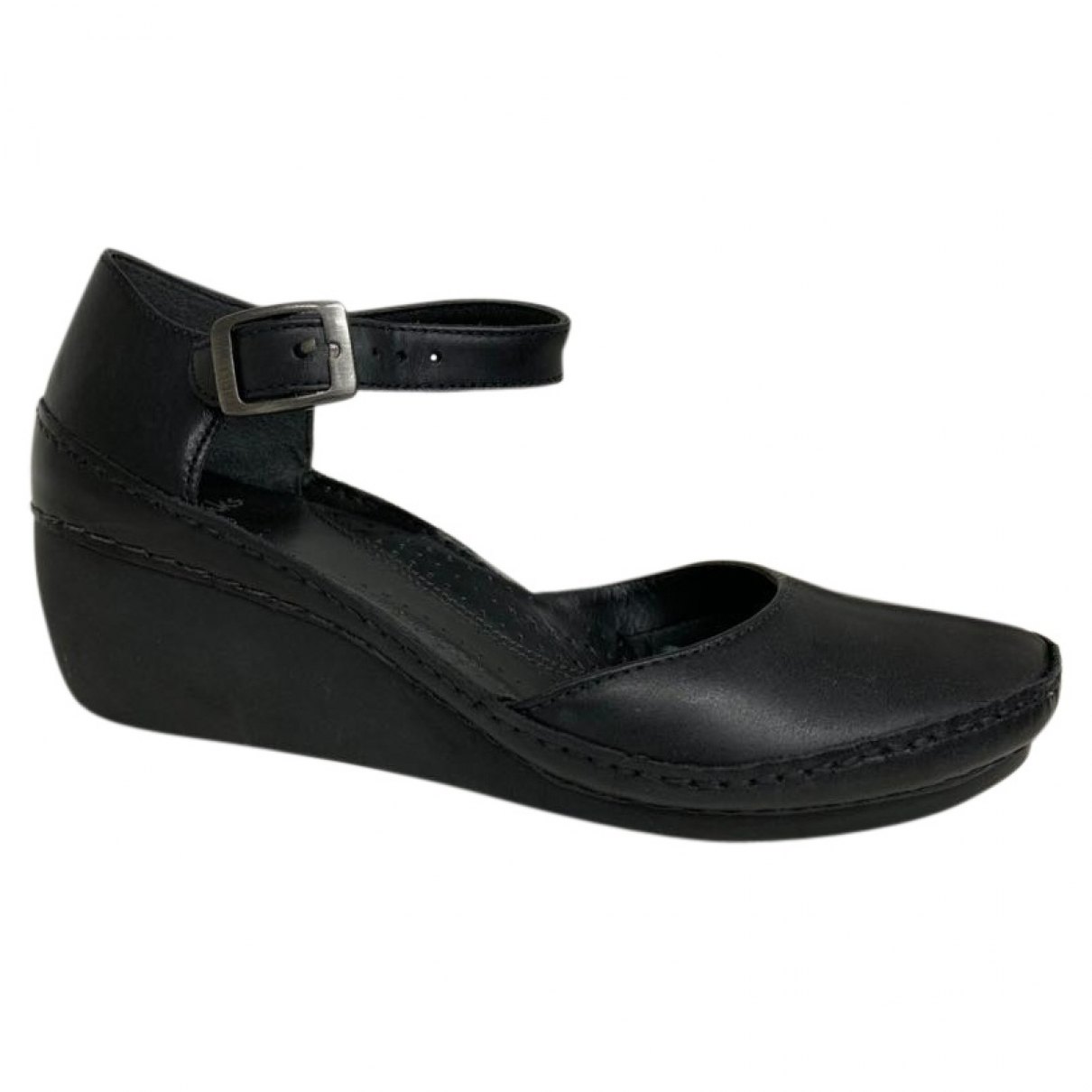 Clarks \N Black Leather Sandals for Women 35.5 EU