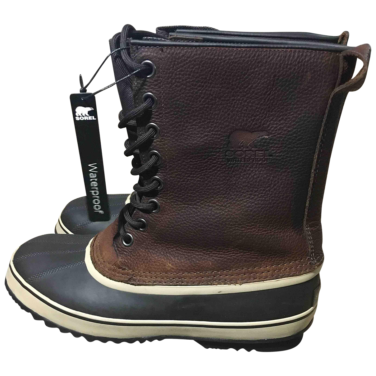 Sorel N Brown Leather Boots for Men 46 EU