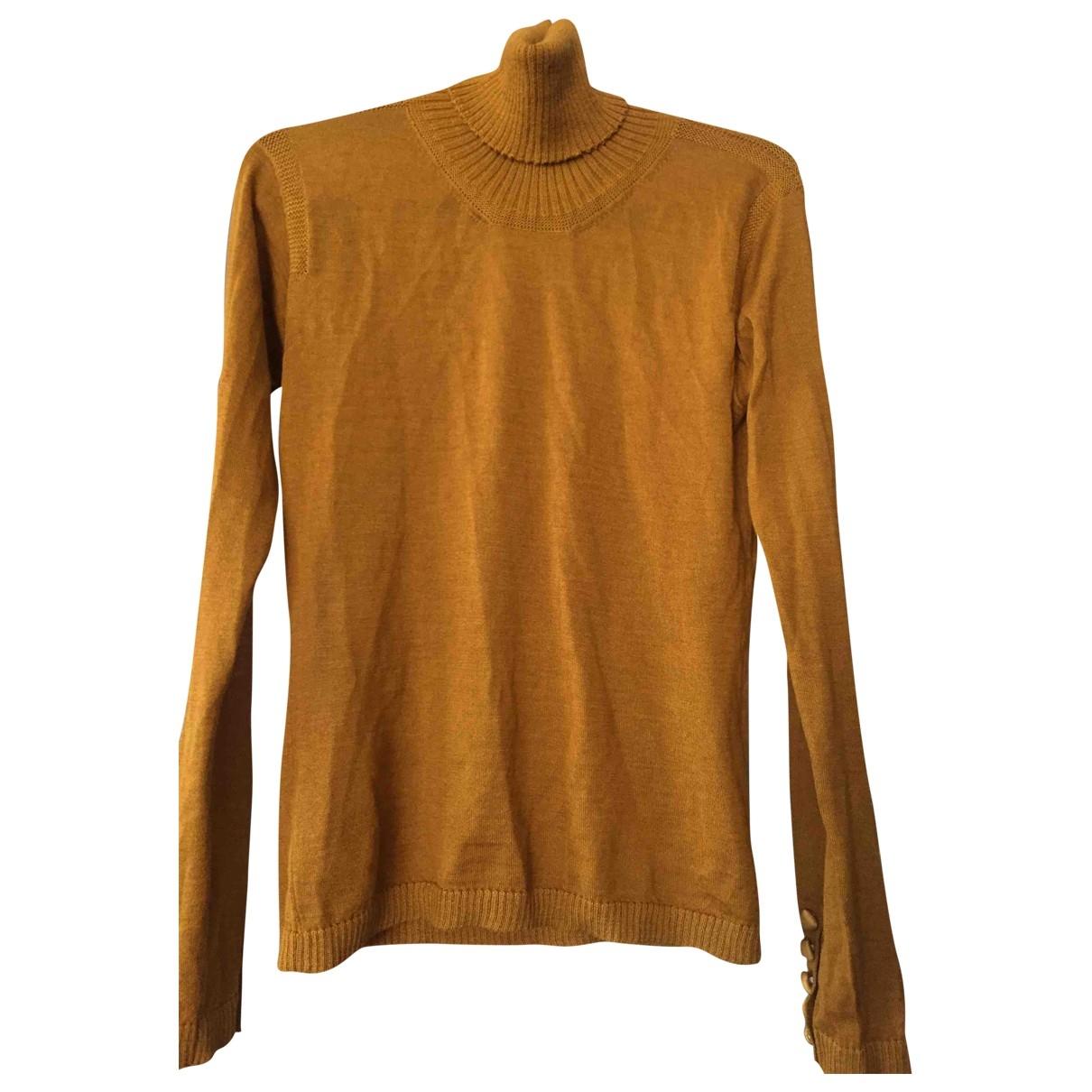 Lanvin - Pull   pour femme en laine - camel