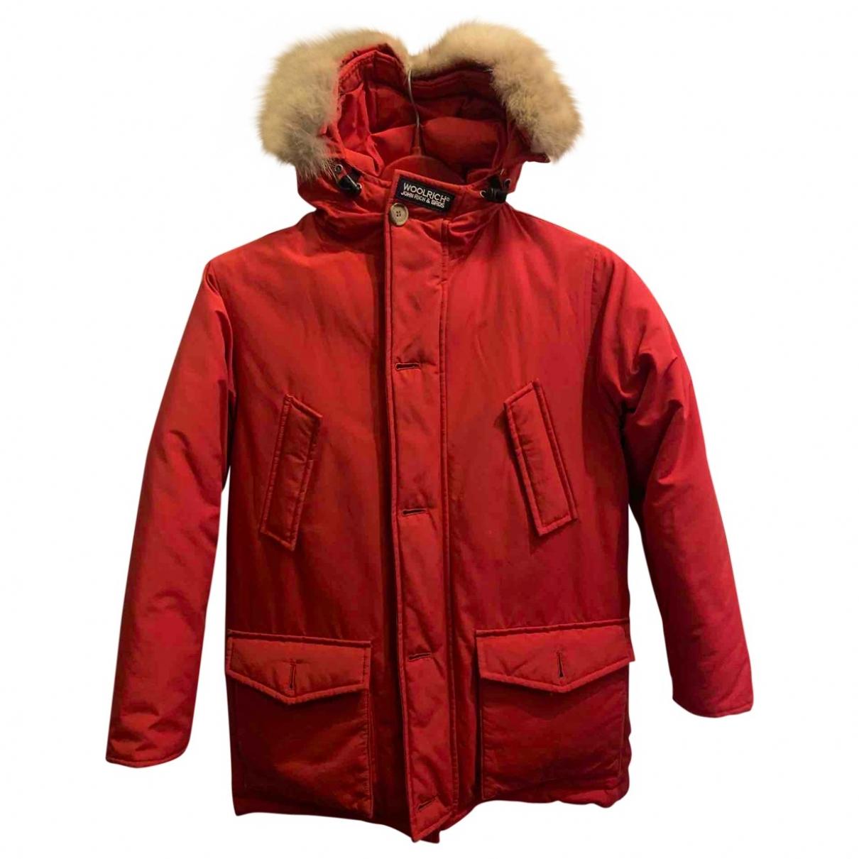 Woolrich \N Jacke, Maentel in  Rot Baumwolle