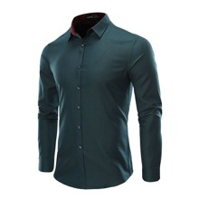 Men Solid Button Through Shirt