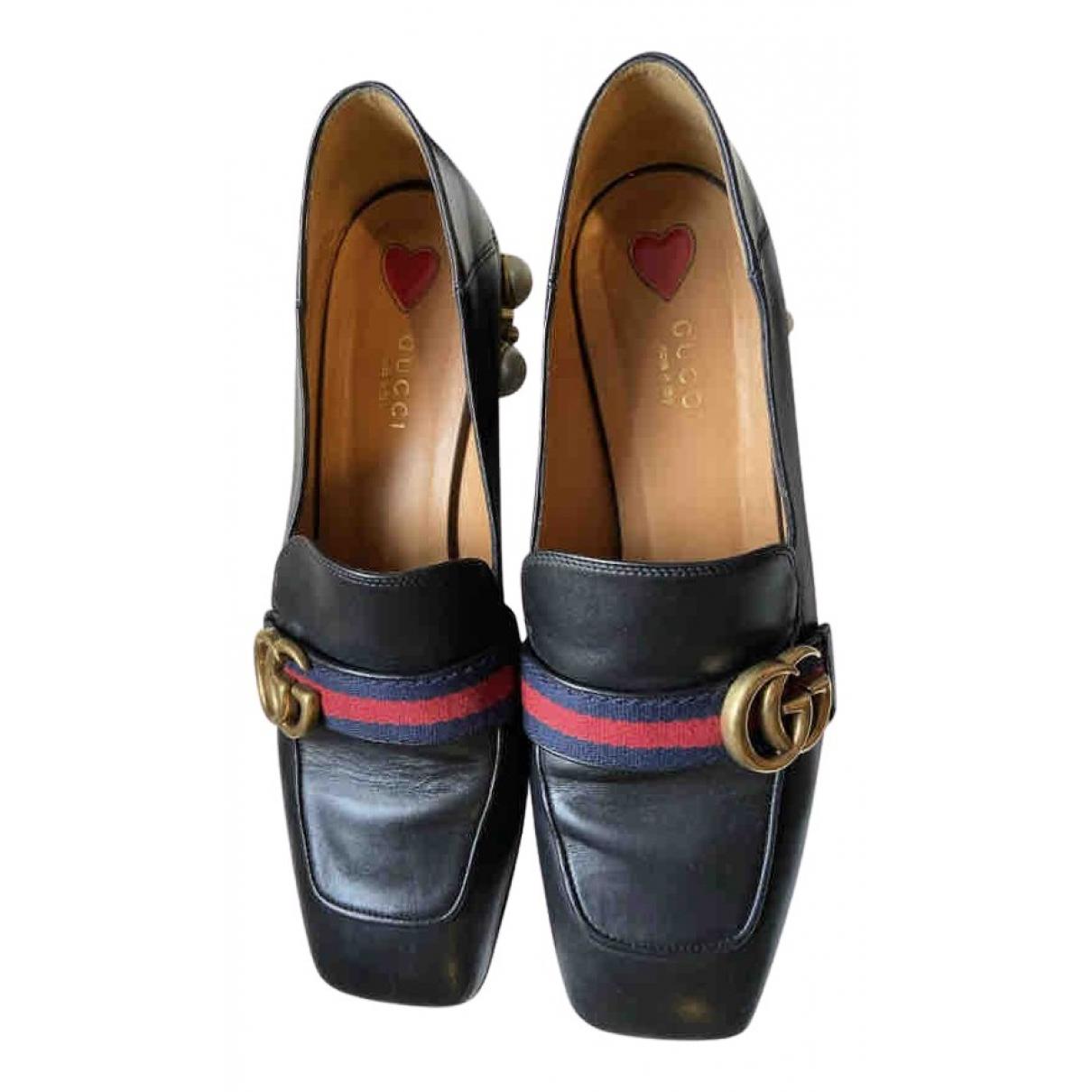 Gucci - Mocassins Peyton pour femme en cuir - noir