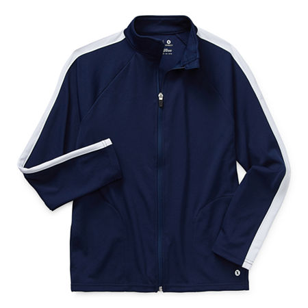 Xersion Little & Big Boys Lightweight Track Jacket, 10-12 Husky , Blue