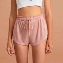 Schlafanzug Set mit Kordelzug und Papiertasche um die Taille
