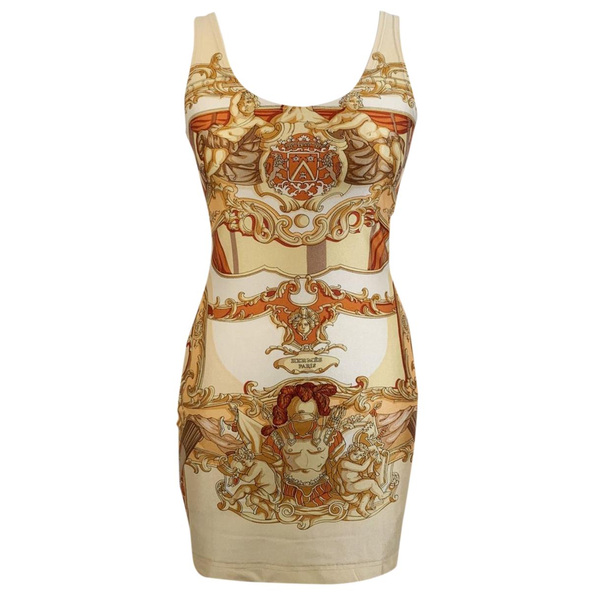 Hermes \N Kleid in  Gelb Baumwolle