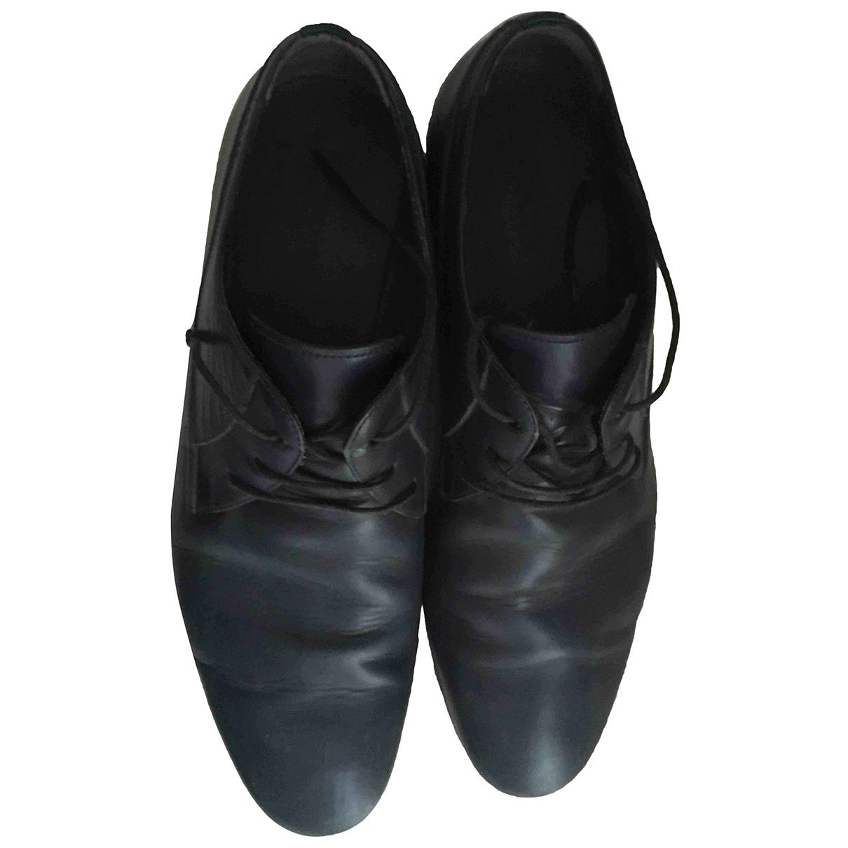 Lanvin - Derbies   pour homme en cuir - bleu