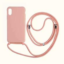1 Stueck Einfarbige iPhone Huelle mit 1 Stueck Tragegurt