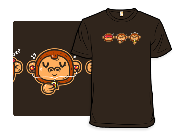 Three Clever Monkeys T Shirt