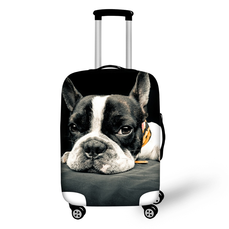 Puppy French Bulldog 3D Pattern Travel Luggage Cover 19 20 21