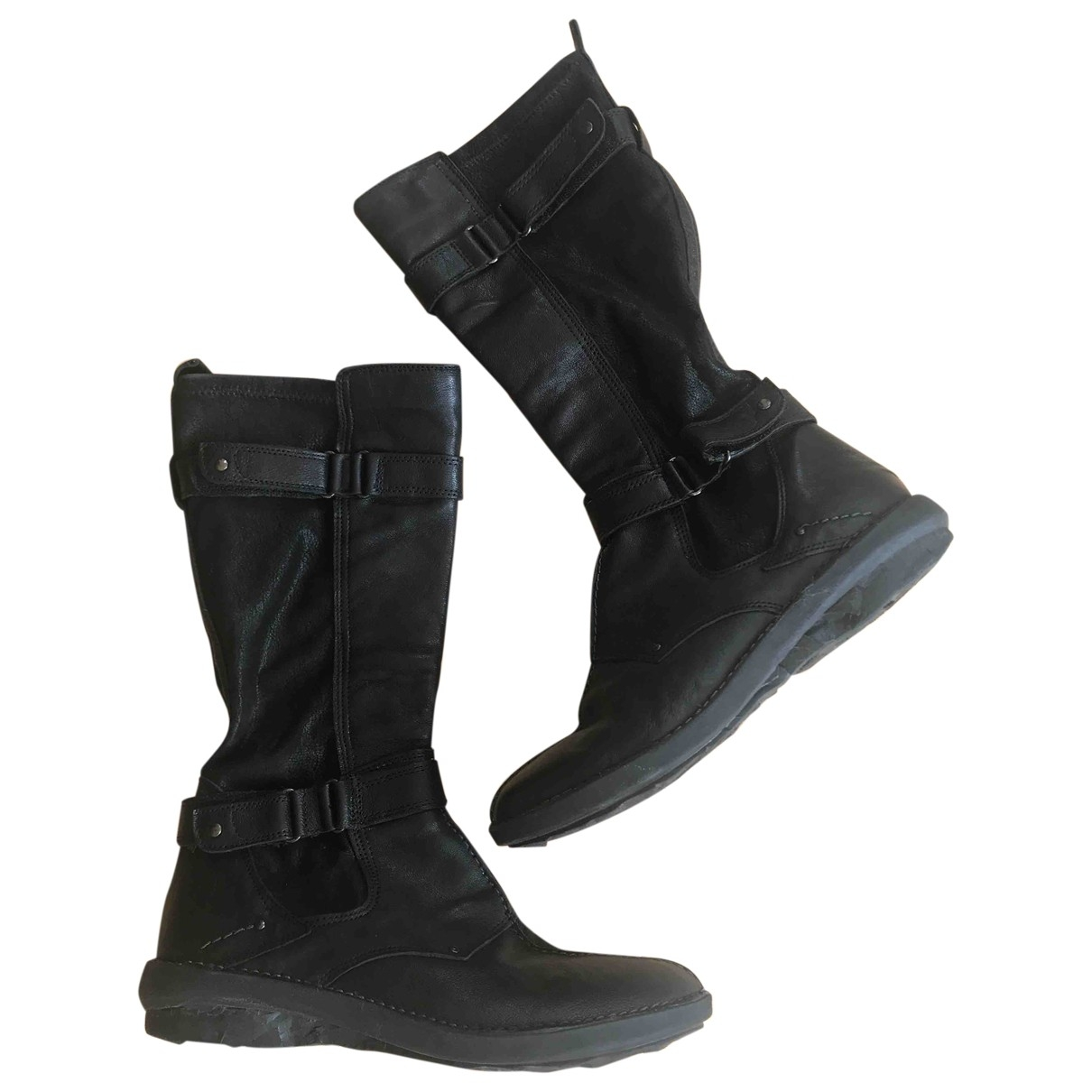 Dune \N Black Leather Boots for Women 40 EU